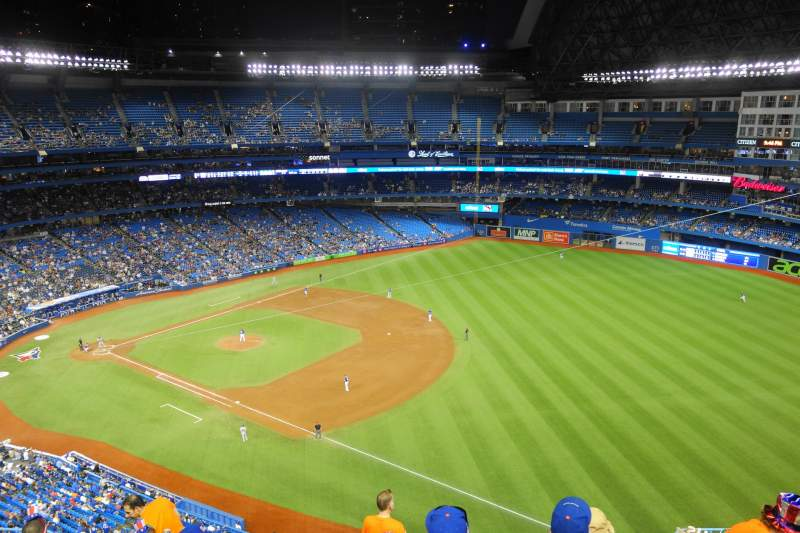 Seating view for Rogers Centre Section 513L Row 12 Seat 110