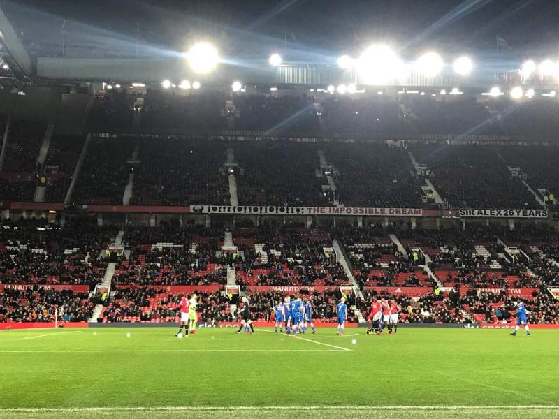 Seating view for Old Trafford Section STH122 Row EE Seat 215