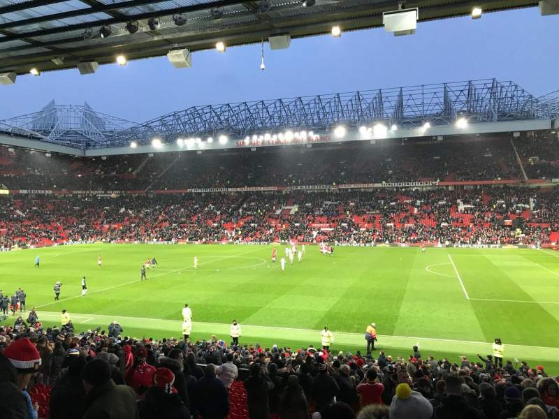Seating view for Old Trafford Section S21 Row 25 Seat 65