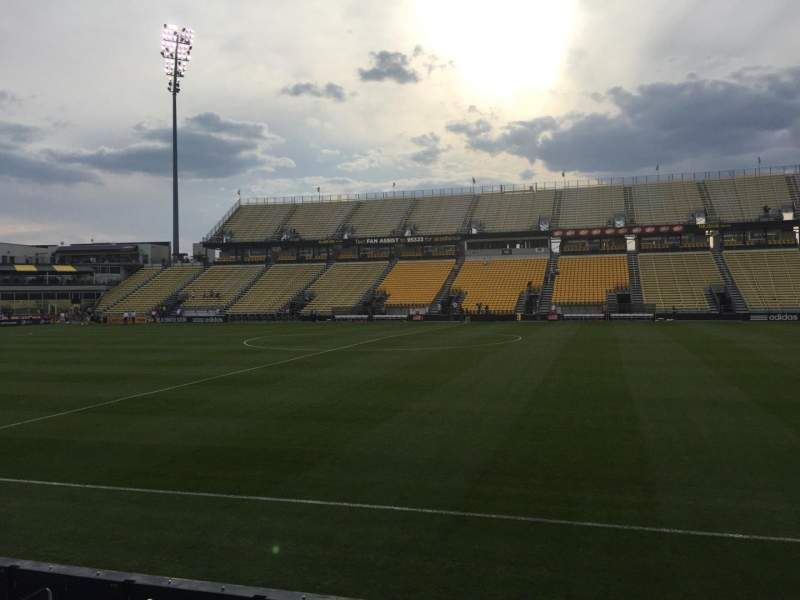 Seating view for Mapfre Stadium Section 104 Row 1 Seat 7