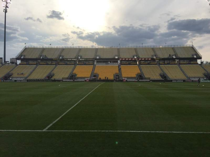Seating view for Mapfre Stadium Section 106 Row 1 Seat 7