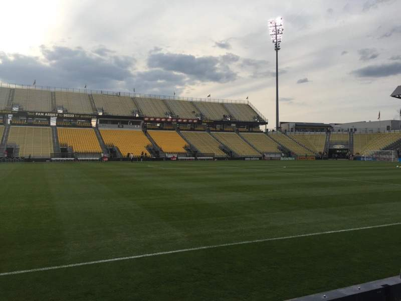 Seating view for Mapfre Stadium Section 109 Row 4 Seat 1