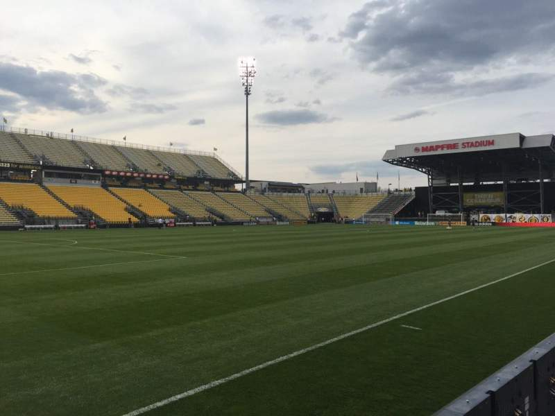 Seating view for Mapfre Stadium Section 110 Row 4 Seat 7