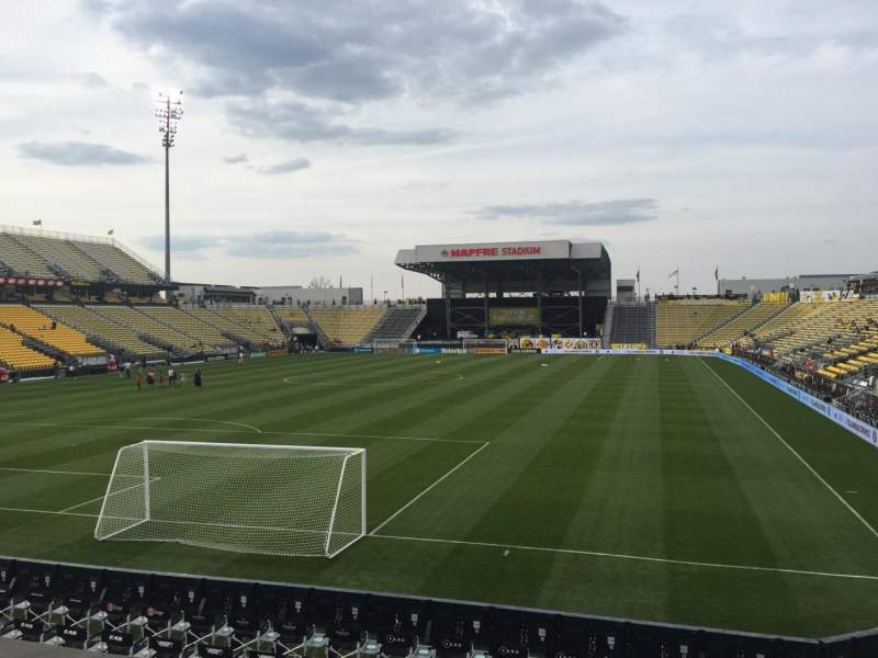 Seating view for Mapfre Stadium Section 113 Row 14 Seat 16