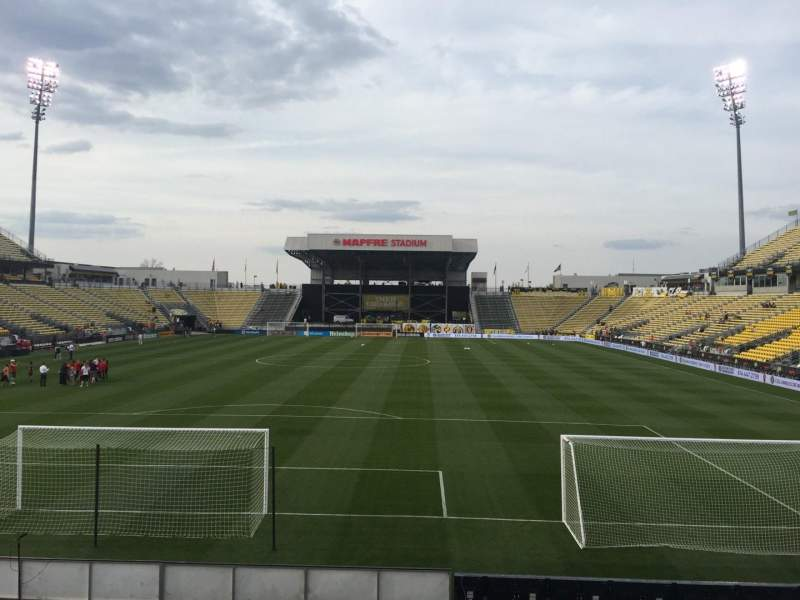 Seating view for Mapfre Stadium Section 114 Row 14 Seat 16