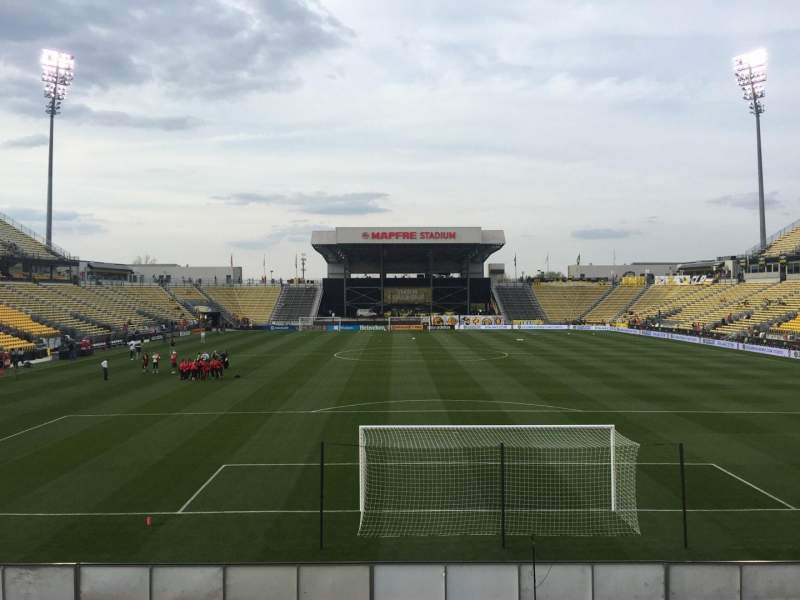 Seating view for Mapfre Stadium Section 116 Row 14 Seat 20