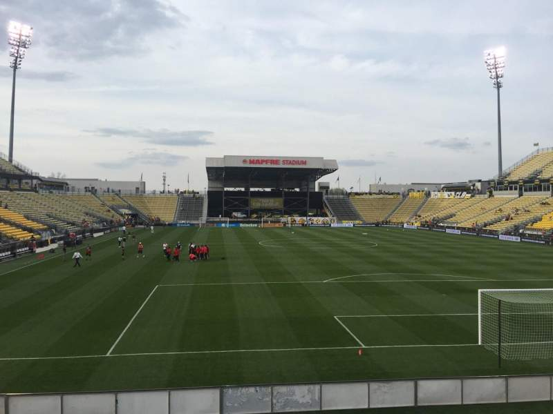 Seating view for Mapfre Stadium Section 117 Row 14 Seat 20