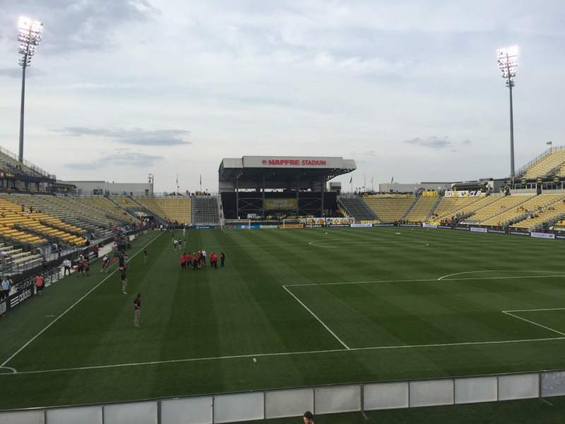 Seating view for Mapfre Stadium Section 119 Row 14 Seat 25