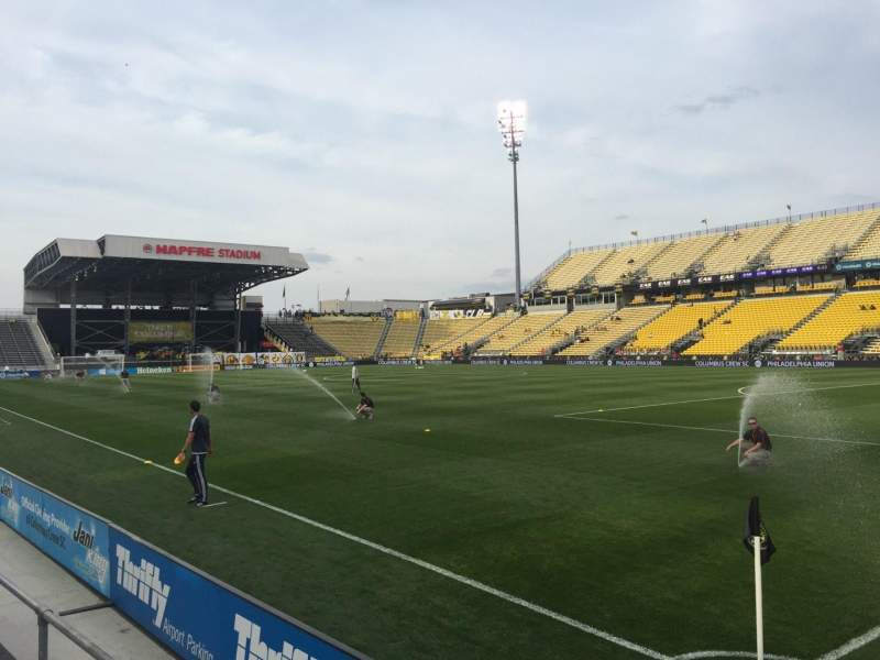Seating view for Mapfre Stadium Section 120 Row 2 Seat 1