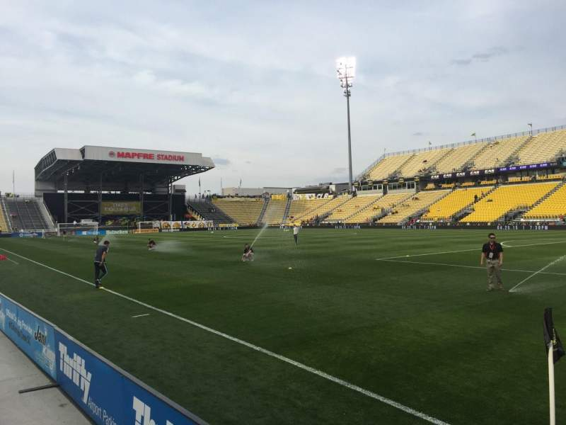 Seating view for Mapfre Stadium Section 121 Row 1 Seat 1