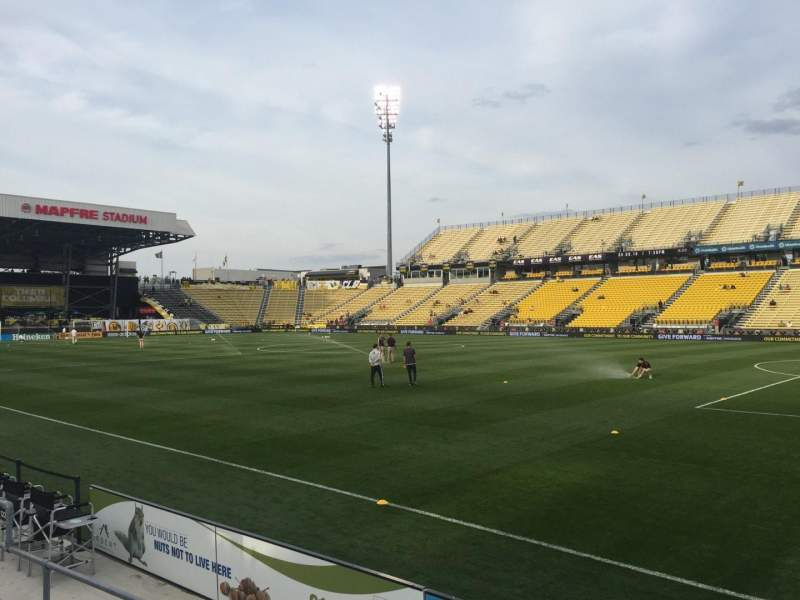 Seating view for Mapfre Stadium Section 122 Row 4 Seat 5
