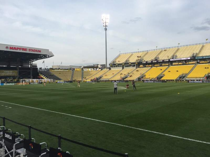 Seating view for Mapfre Stadium Section 123 Row 1 Seat 1