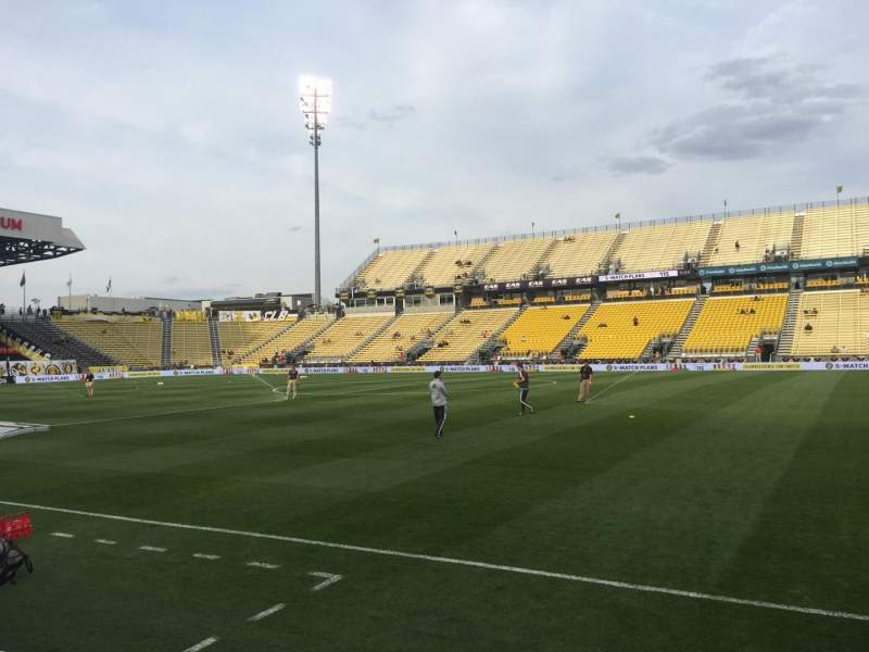 Seating view for Mapfre Stadium Section 124 Row 4 Seat 7