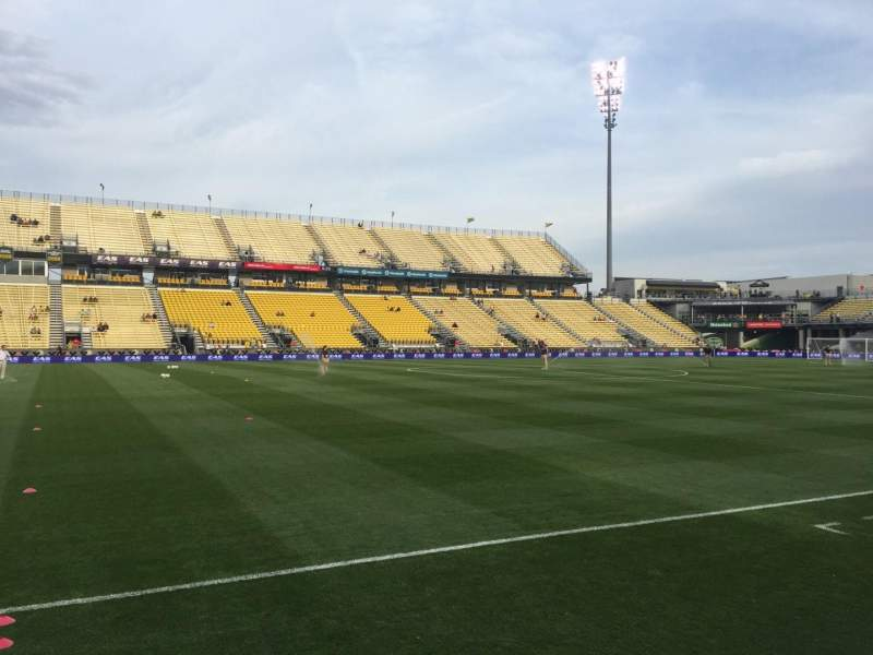Seating view for Mapfre Stadium Section 129 Row 4 Seat 1