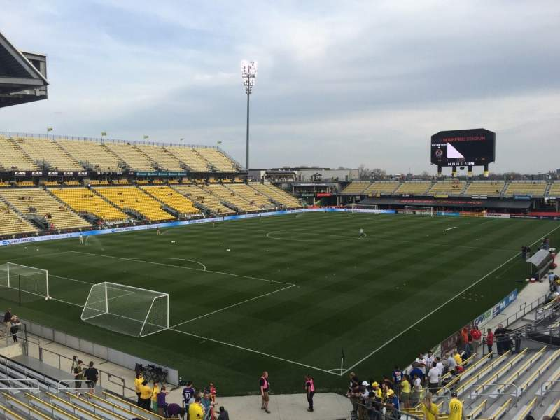 Seating view for Mapfre Stadium Section 133 Row 24 Seat 30