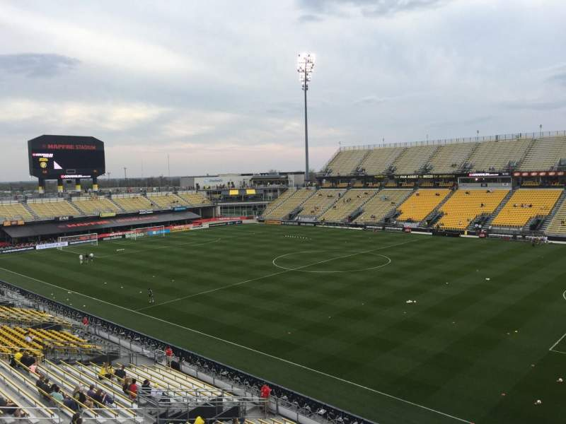 Seating view for Mapfre Stadium Section 202 Row 1 Seat 6