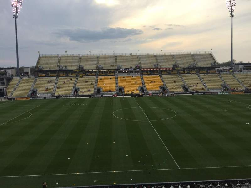 Seating view for Mapfre Stadium Section 207 Row 1 Seat 19