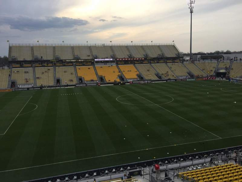 Seating view for Mapfre Stadium Section 208 Row 1 Seat 13