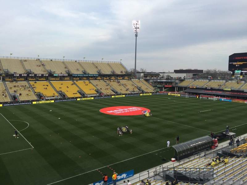 Seating view for Mapfre Stadium Section 229 Row 1 Seat 13