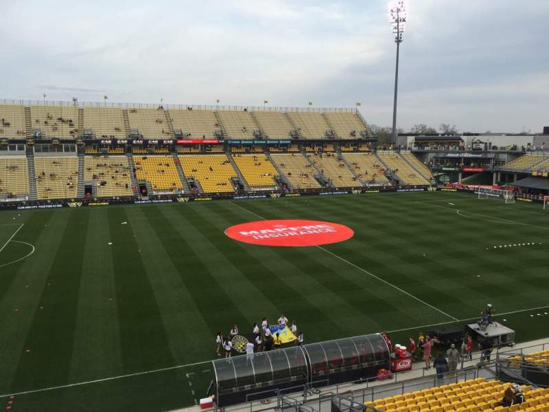 Seating view for Mapfre Stadium Section 227 Row 1 Seat 19