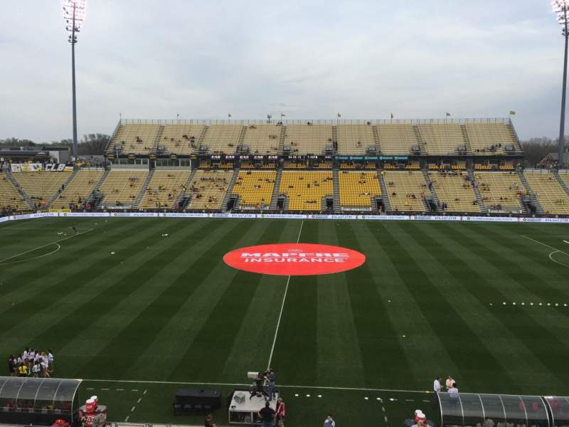 Seating view for Mapfre Stadium Section 225 Row 1 Seat 19