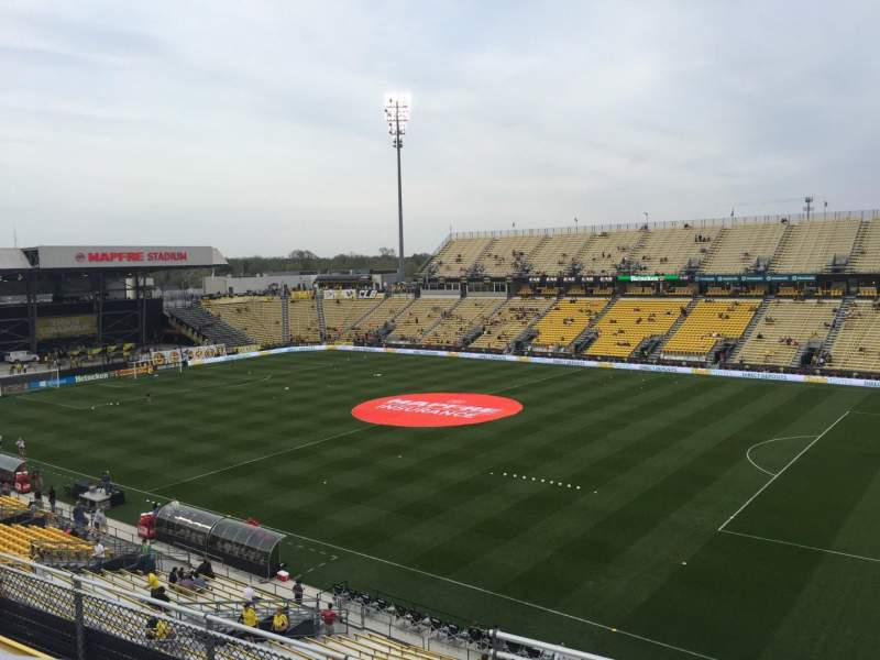 Seating view for Mapfre Stadium Section 222 Row 1 Seat 20