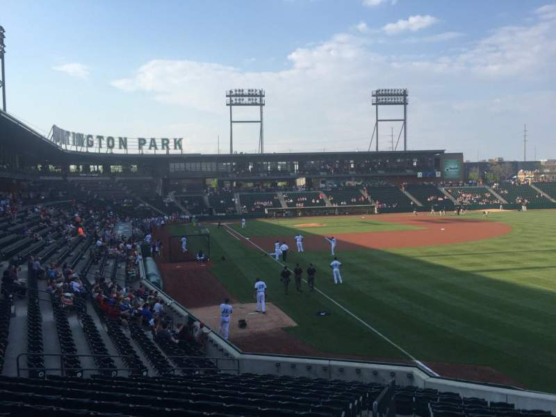 Seating view for Huntington Park Section 1 Row T Seat 17