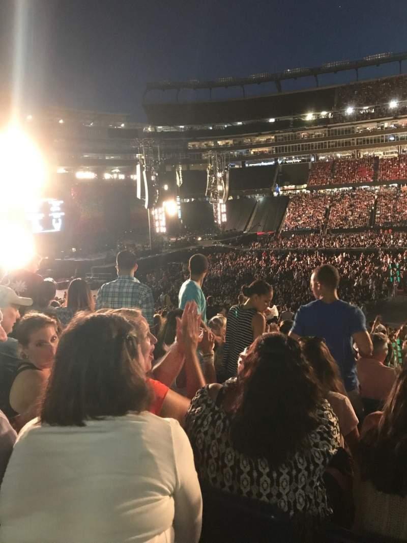 Gillette Stadium, section: 110, row: 32, seat: 14