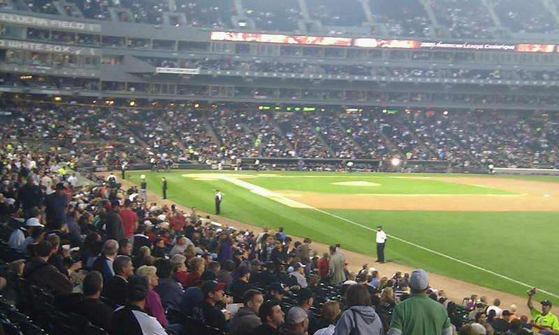 Seating view for Guaranteed Rate Field Section 110 Row 23 Seat 1