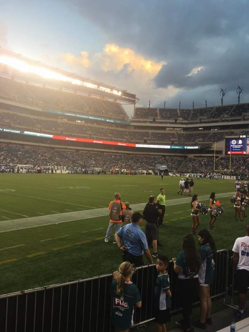 Seating view for Lincoln Financial Field Section 135 Row 1 Seat 22