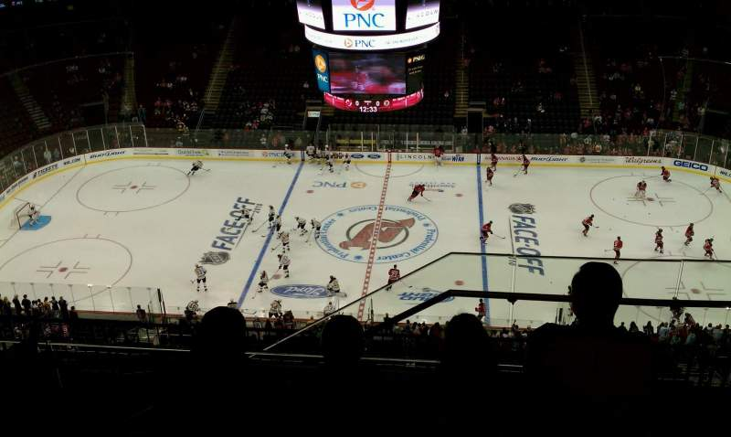 Seating view for Prudential Center Section 212 Row 5 Seat 1
