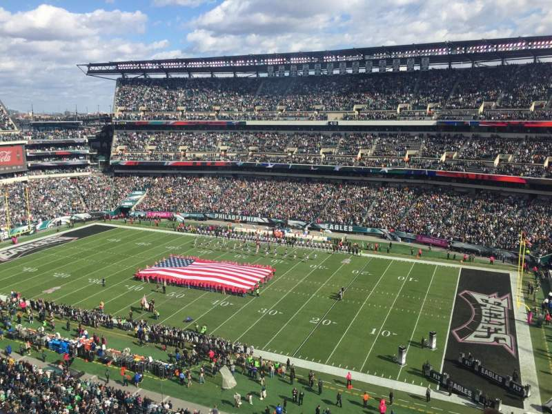 Seating view for Lincoln Financial Field Section 205 Row 4 Seat 18