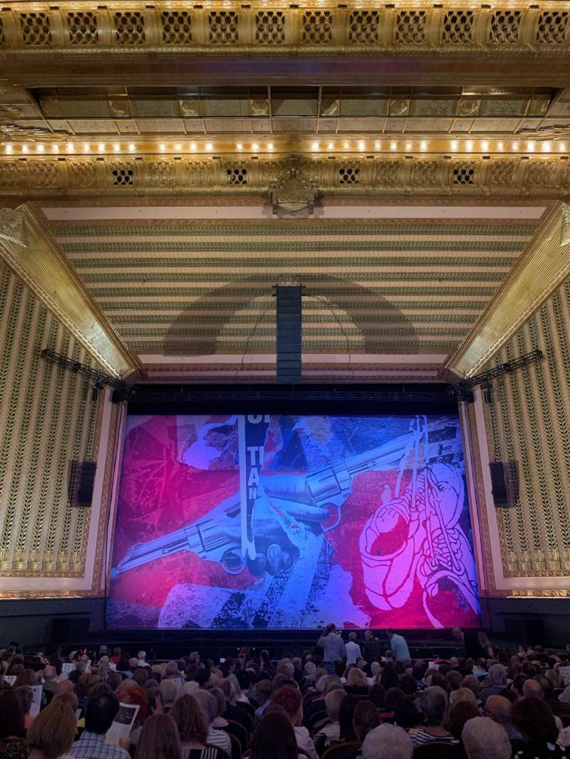 Seating view for Lyric Opera House Section Ochestra center Row X Seat 105