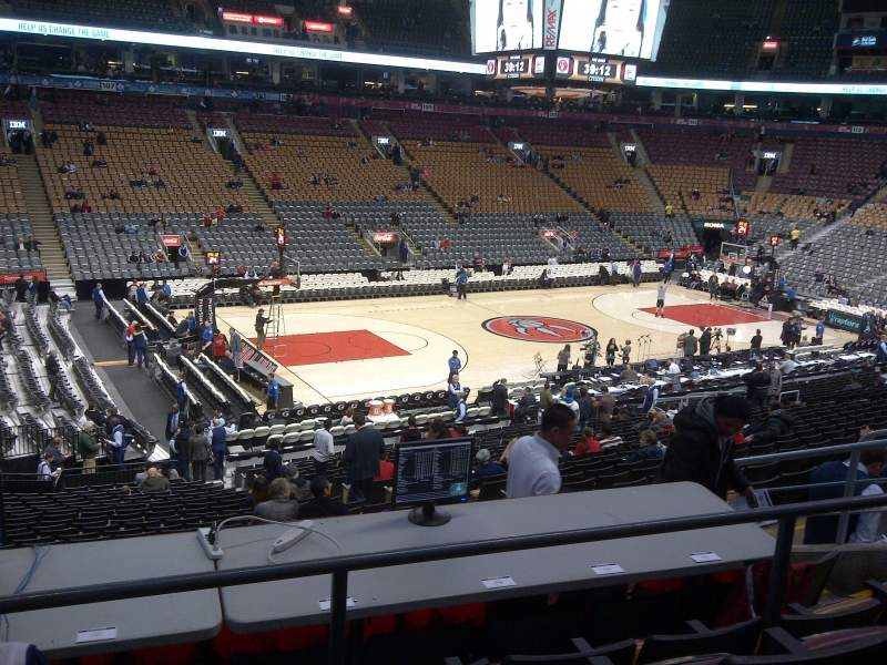 Seating view for Air Canada Centre Section 121 Row 26 Seat 7