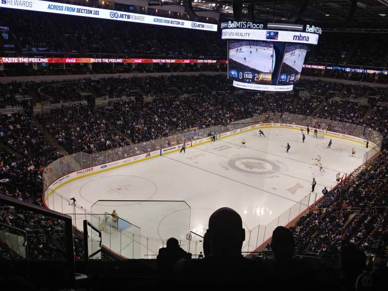Seating view for Bell MTS Place Section 325 Row 4 Seat 15