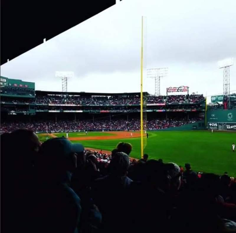 Fenway Park, section: Grandstand 6, row: 3, seat: 9