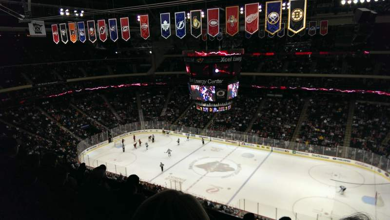 Seating view for Xcel Energy Center Section 217 Row 6 Seat 4