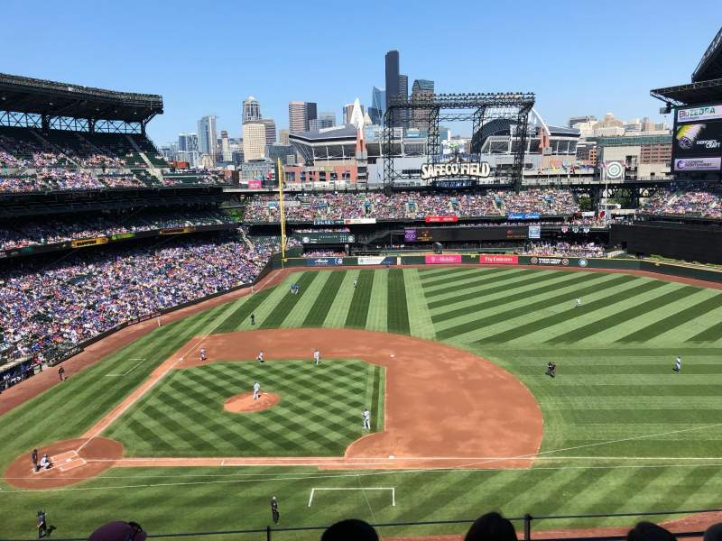 Seating view for T-Mobile Park Section 321 Row 4 Seat 21