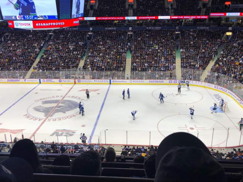 Seating view for Rogers Arena Section 322 Row 5 Seat 1