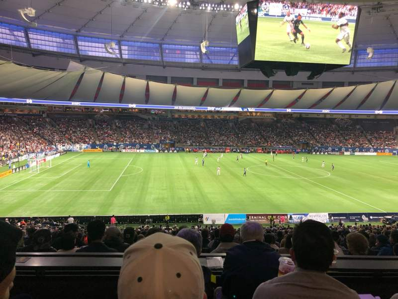 Seating view for BC Place Section 344 Row D Seat 7