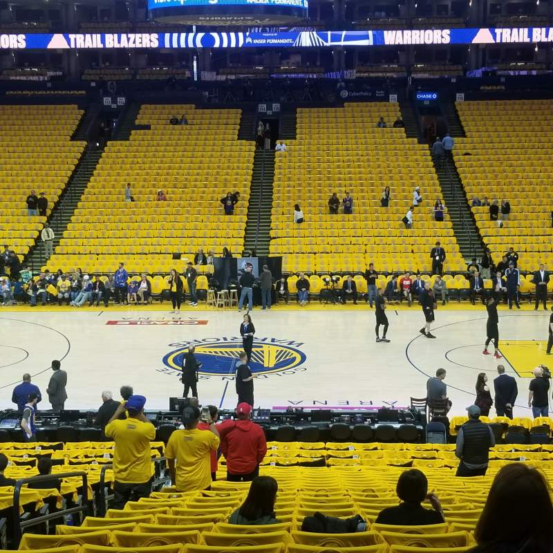 Seating view for Oracle Arena  Section 128 Row 12 Seat 12