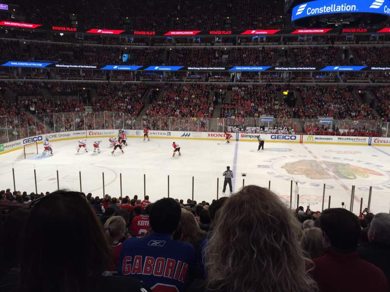 Seating view for United Center Section 112 Row 19 Seat 17