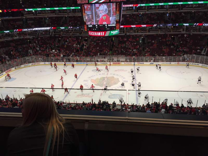 Seating view for United Center Section 334 Row 2 Seat 10