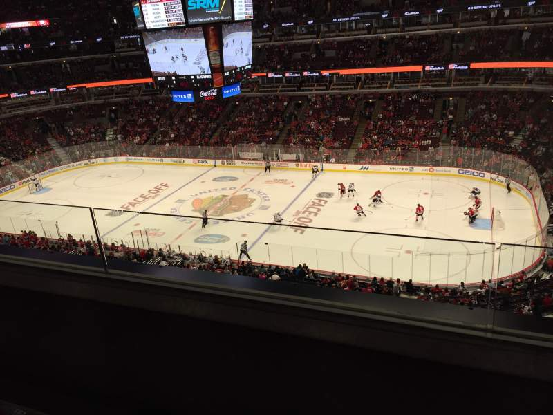 Seating view for United Center Section 332 Row 2 Seat 13