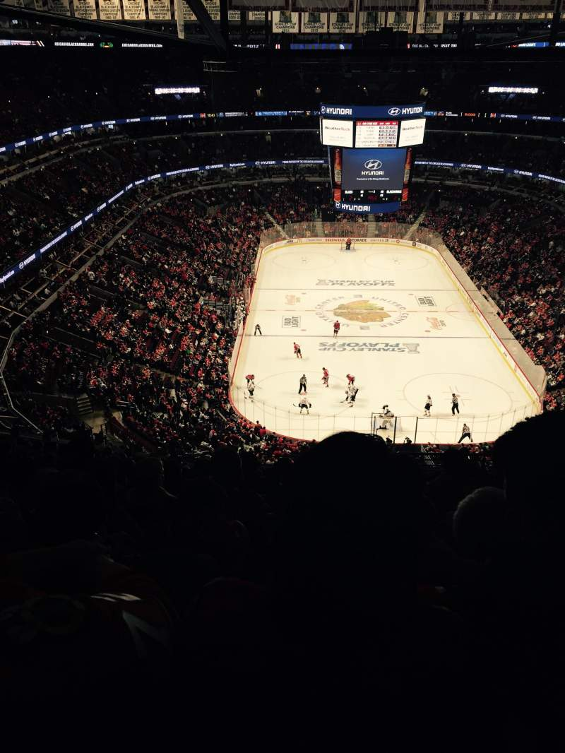 Seating view for United Center Section 327 Row 16 Seat 4
