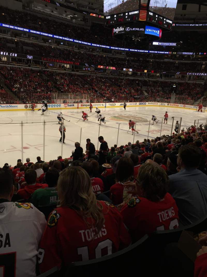 Seating view for United Center Section 103 Row 15 Seat 13