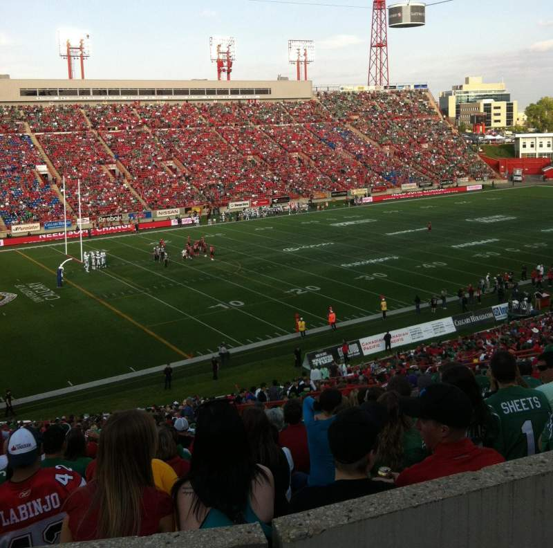 Seating view for McMahon Stadium Section J Row 53 Seat 20