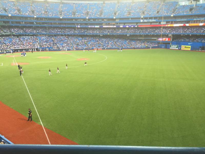 Seating view for Rogers Centre Section 210R Row 1 Seat 3