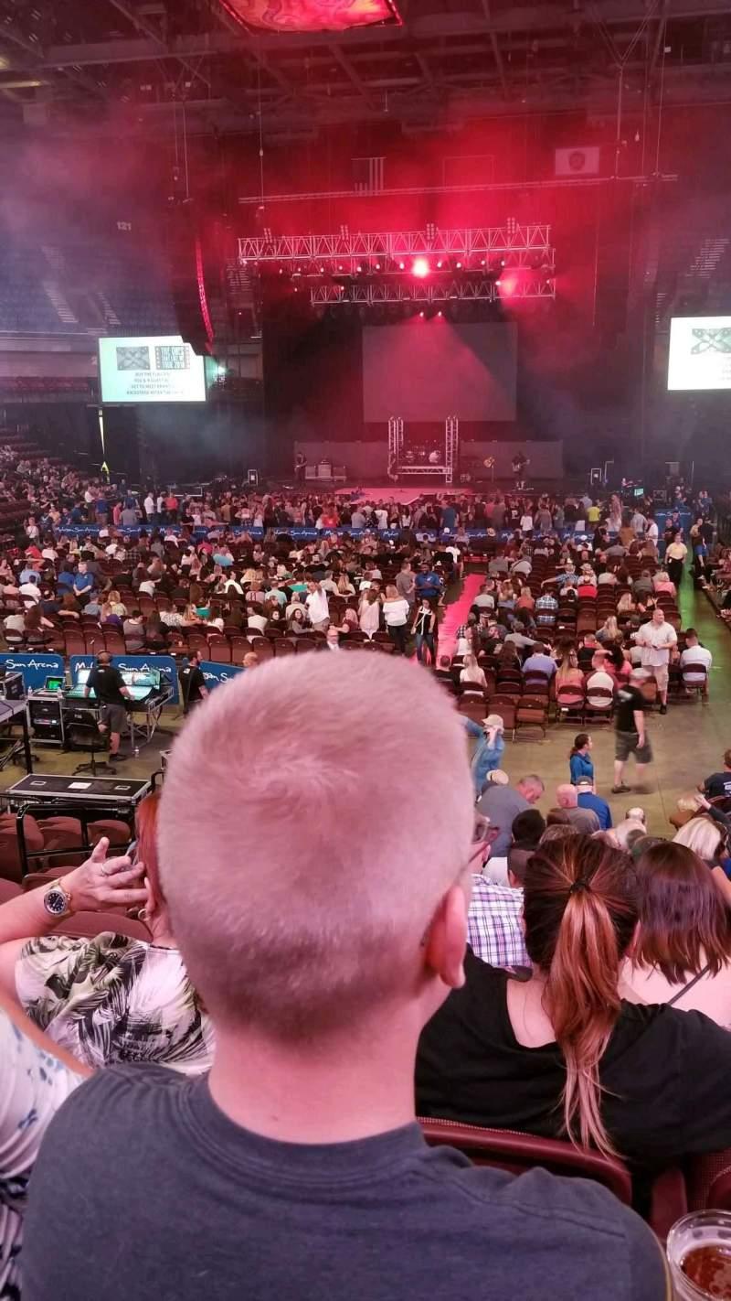 Mohegan Sun Arena, section: 19, row: P, seat: 11