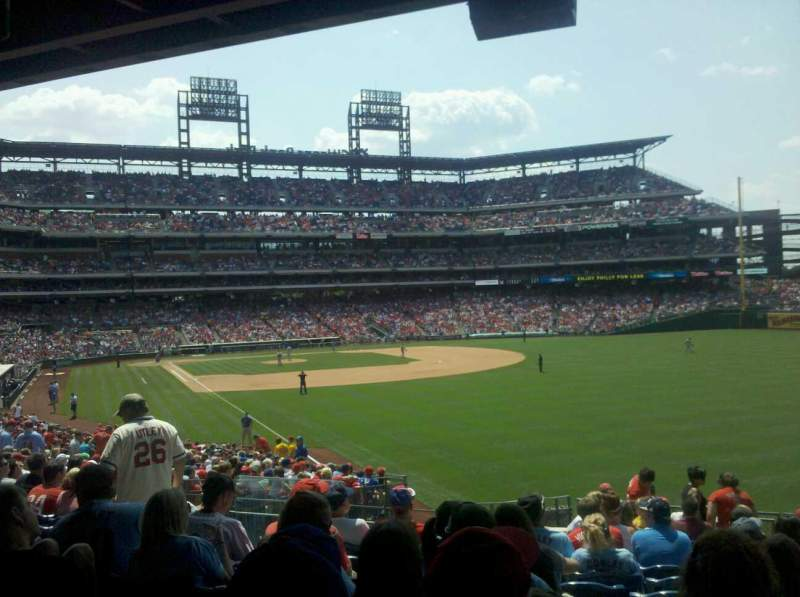 Seating view for Citizens Bank Park Section 107 Row 17 Seat 21